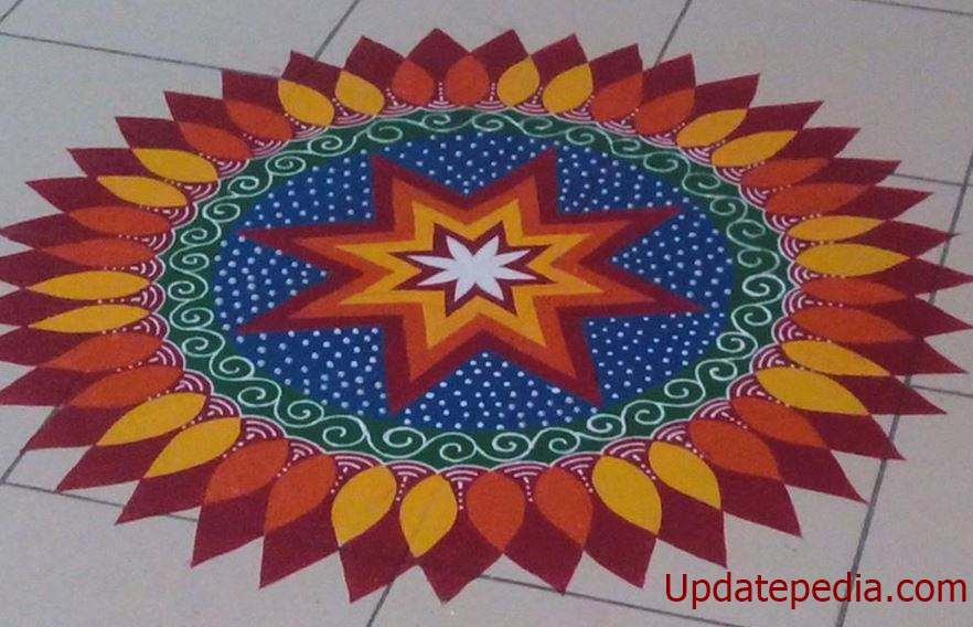 101 Easy Rangoli Designs Simple Rangoli Pattern For Diwali