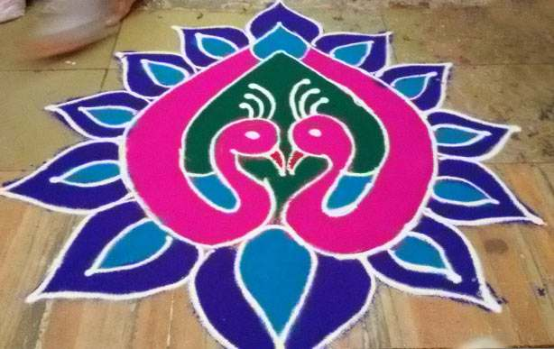 Simple Rangoli Designs for Diwali