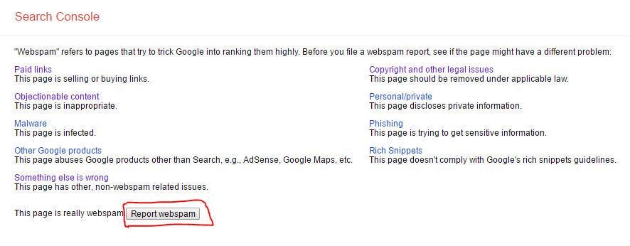 easy way to report black hat seo, how to report black hat seo to google