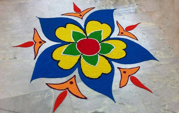 Rangoli Designs with dots Step by Step Butterfly Rangoli Designs with Dots