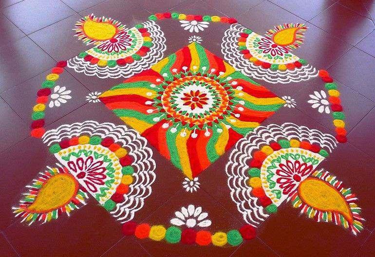 101 Easy Rangoli Designs Simple Pattern For