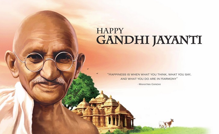 Image result for gandhi jayanti status in hindi