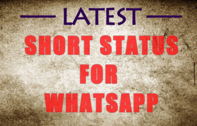 Short Status in English & Hindi Two Line Short Status For Whatsapp Short Cool Status For Facebook One Line Short Status in Hindi For Instagram Short Status in English For Boyfriend / Girlfriend Attitude Short Status in Hindi Short Status in English for Friends Short Status in Hindi for Girls / Boys Funny Short English Status on Love Short Sad Status in Hindi 1000+ Short Status in English & Hindi【Whatsapp & Facebook 】 Short Status in English & Hindi is the Unique Collection you Can Share on Whatsapp, Facebook or Instagram. Short Two Line Funny Short Status for Boyfriend,Girlfriend,Friends and Love are the All Type of Status you can get here.