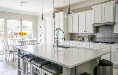 How To Bring Color In While Keeping a White Kitchen Clean
